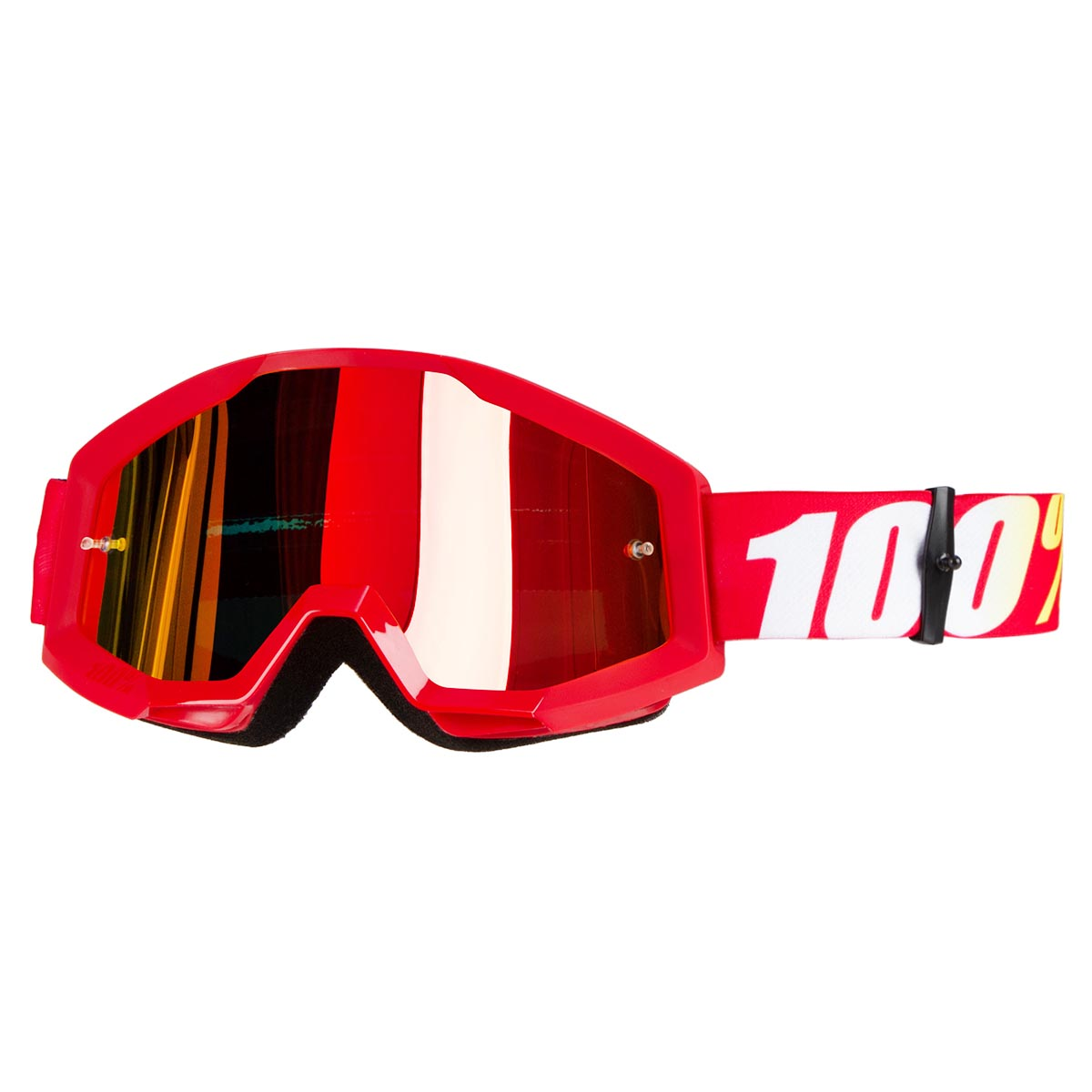 100% Crossbrille The Strata Furnace - Rot verspiegelt Anti-Fog