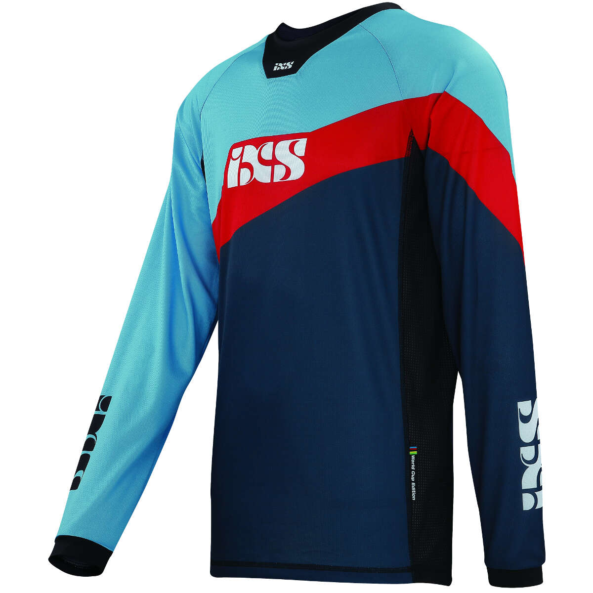 IXS Downhill-Jersey Race 7.1 Night Blau/Fluo Rot - Worldcup Worldcup - Edition 203e5c