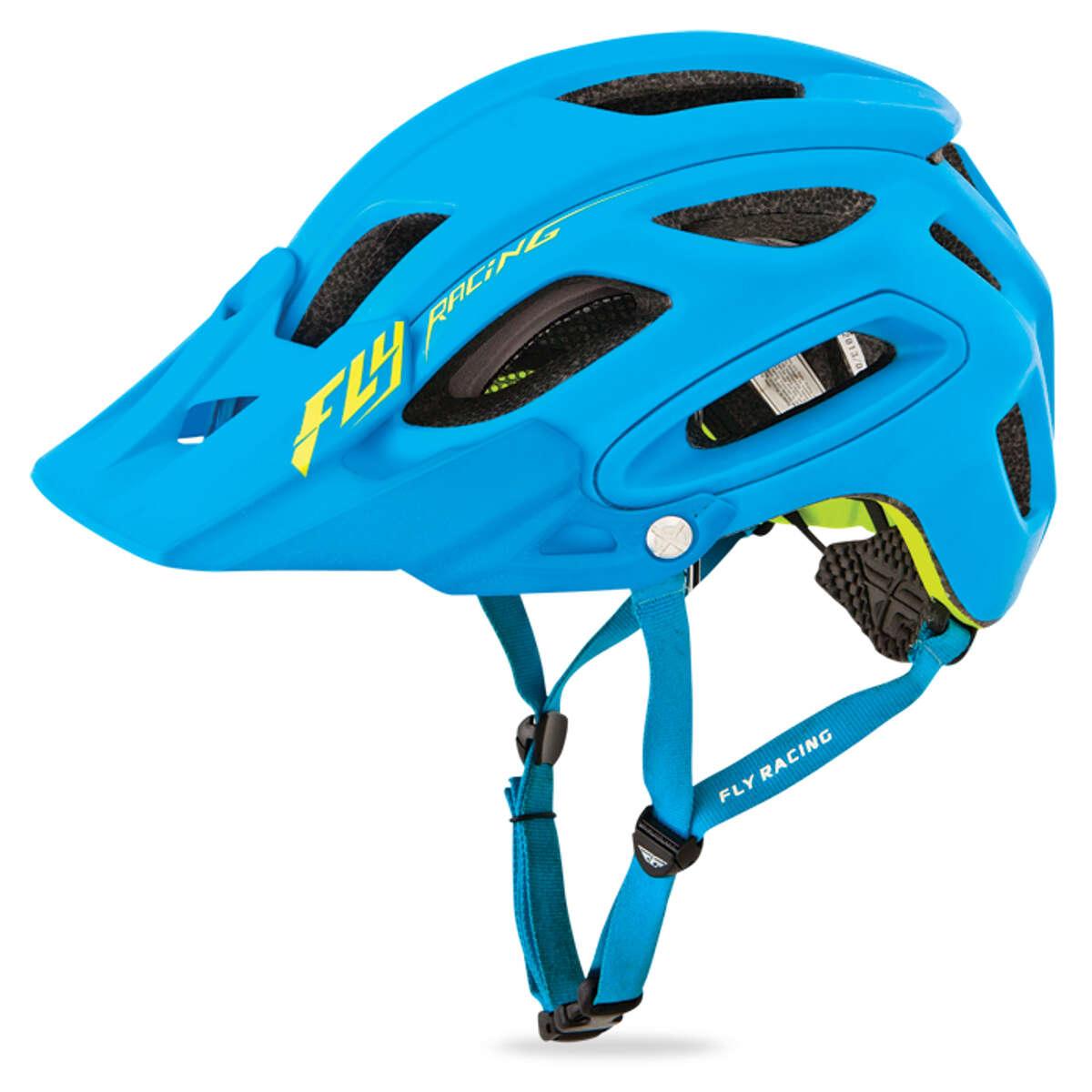 fly racing enduro mtb helm freestone matt blau hi vis ebay. Black Bedroom Furniture Sets. Home Design Ideas