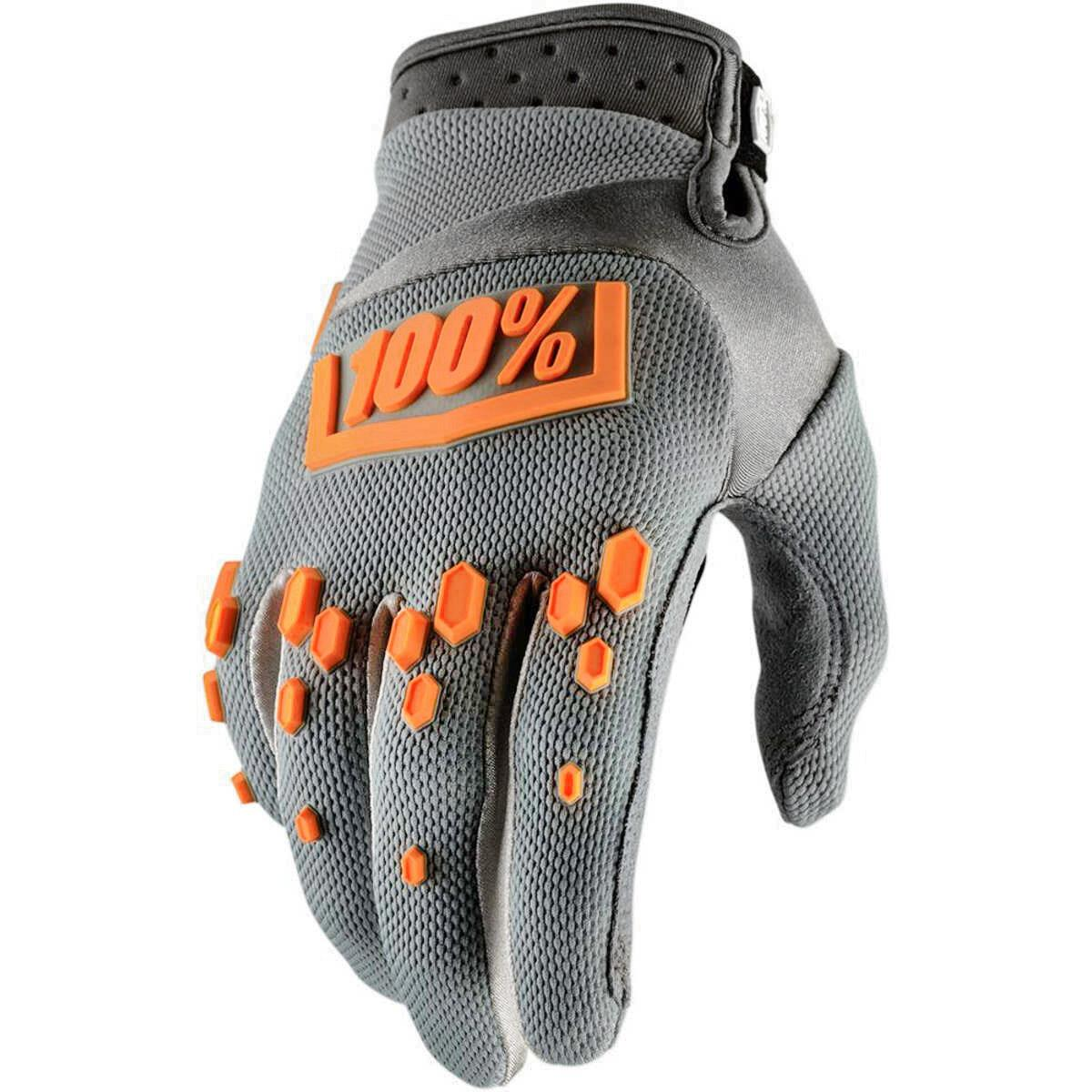 100% Bike Gloves Airmatic Grey