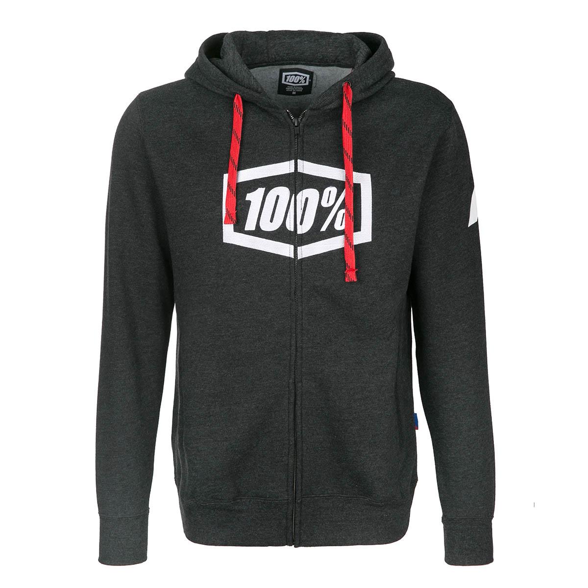 100% Zip-Hoodie Syndicate Black/ Heather White
