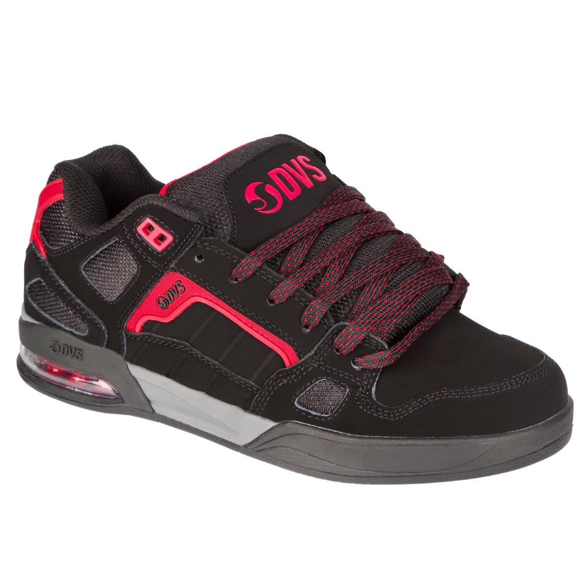 DVS Schuhe Drone+ Black Red Nubuck