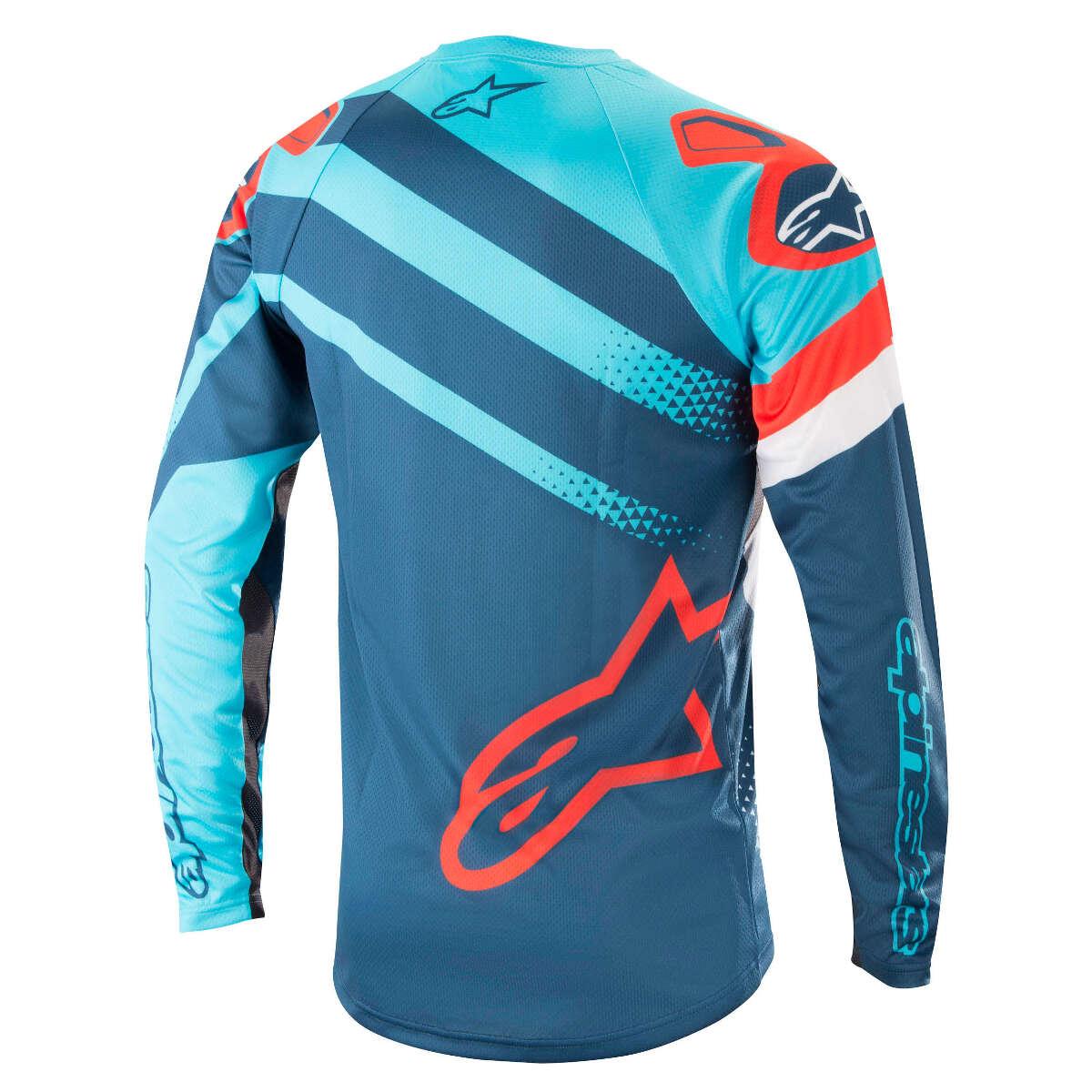 Alpinestars Downhill-Jersey Downhill-Jersey Downhill-Jersey Langarm Racer Atoll Blau Poseidon Blau 8d6477