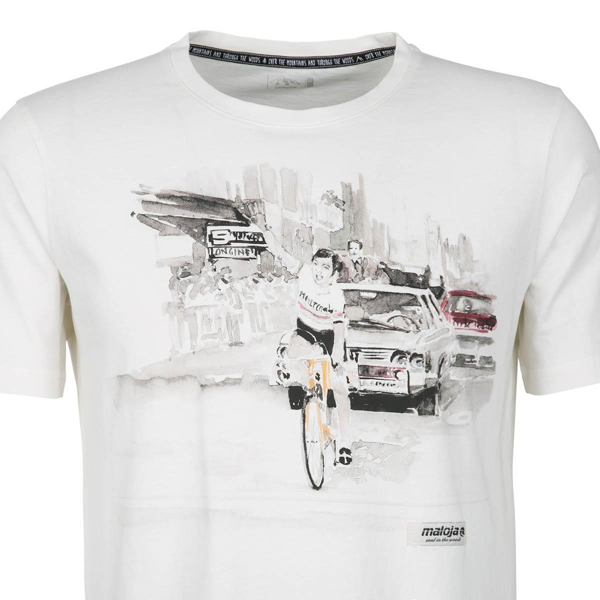 Maloja T-shirt T-shirt T-shirt peiderm. VINTAGE bianca  112087