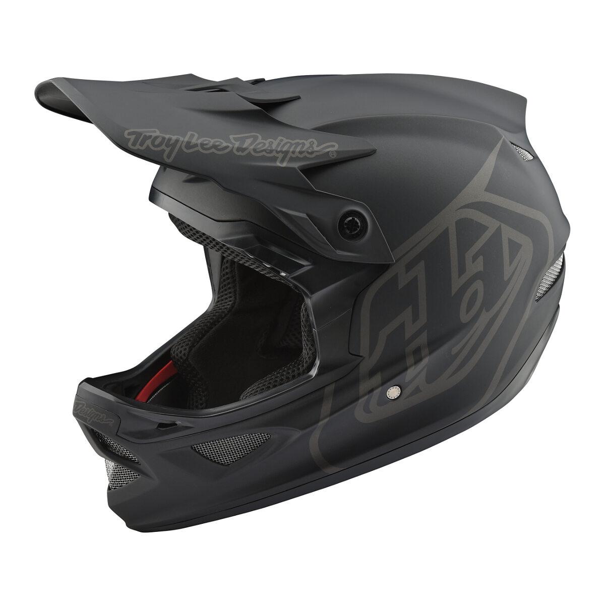 Troy Lee Designs Downhill-MTB-Helm D3 Fiberlite Mono Schwarz