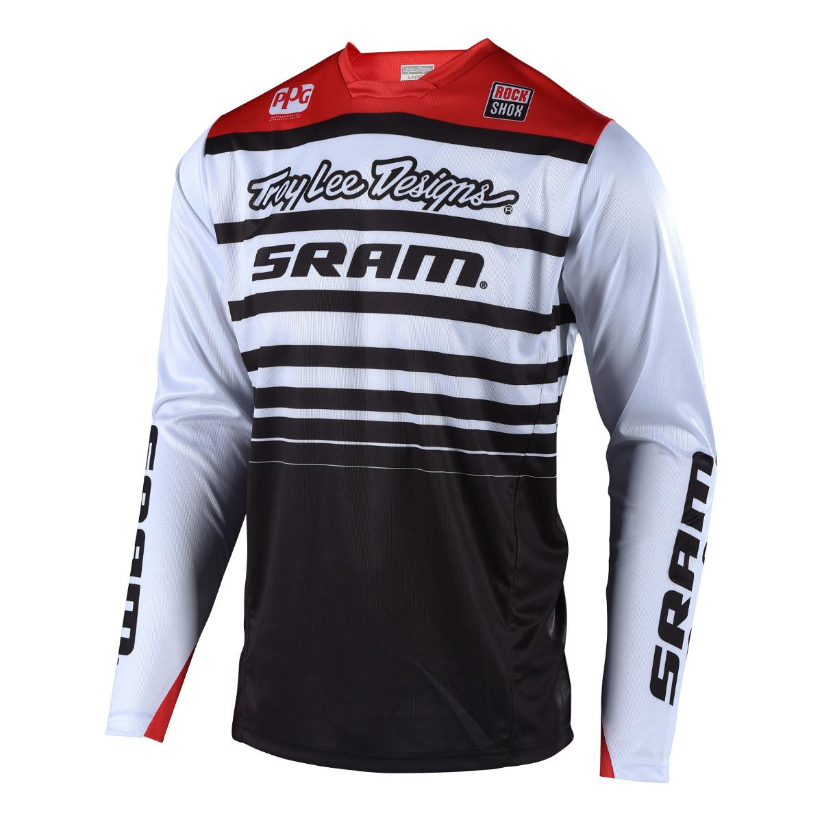 Troy Lee Designs Downhill-Jersey Sprint SRAM - Weiß/Schwarz 2018 ...