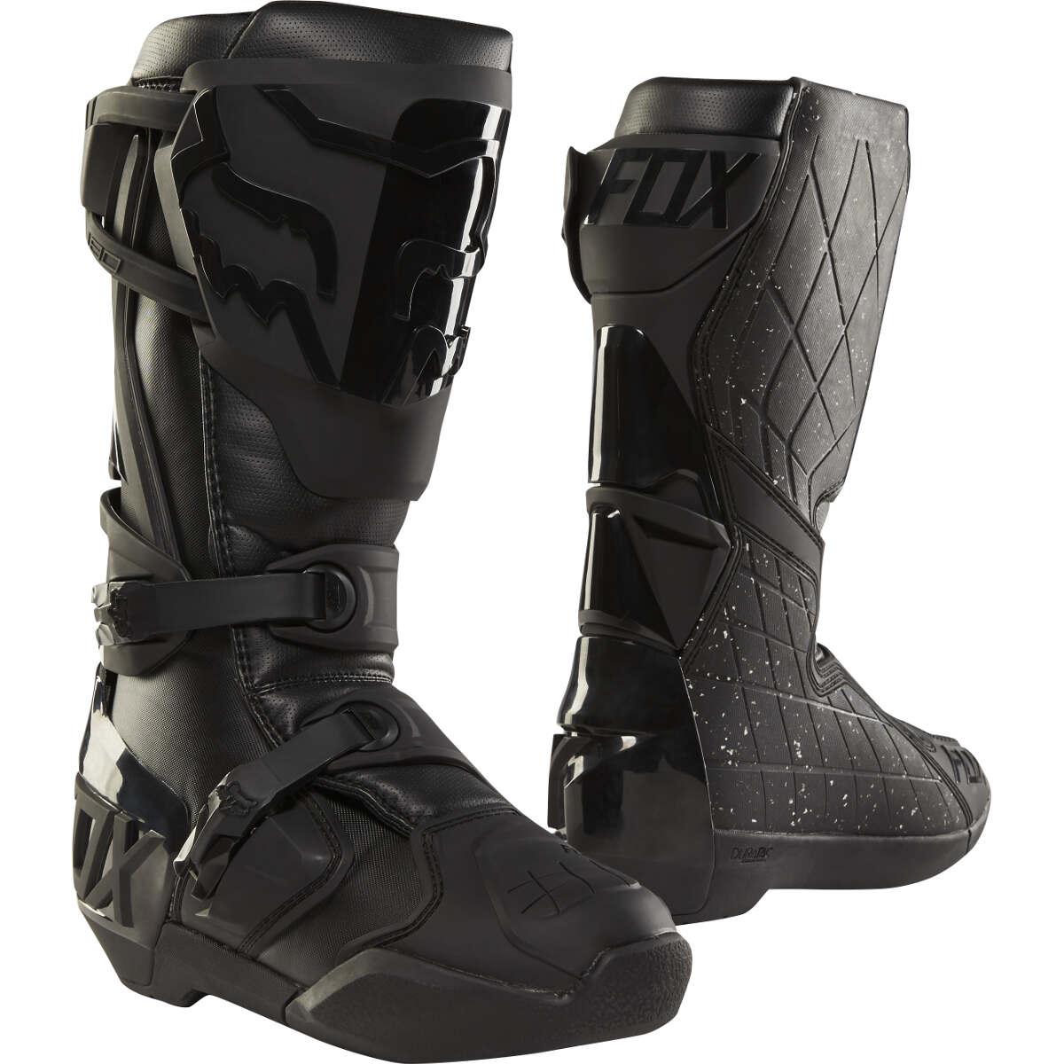 fox motocross stiefel 180 schwarz schwarz special edition san diego 2018 maciag offroad. Black Bedroom Furniture Sets. Home Design Ideas