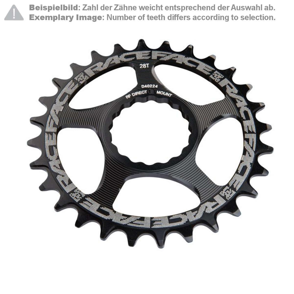Race Face MTB-Kettenblatt  Schwarz, Direct Mount, Cinch, für 10/11/12-Fach