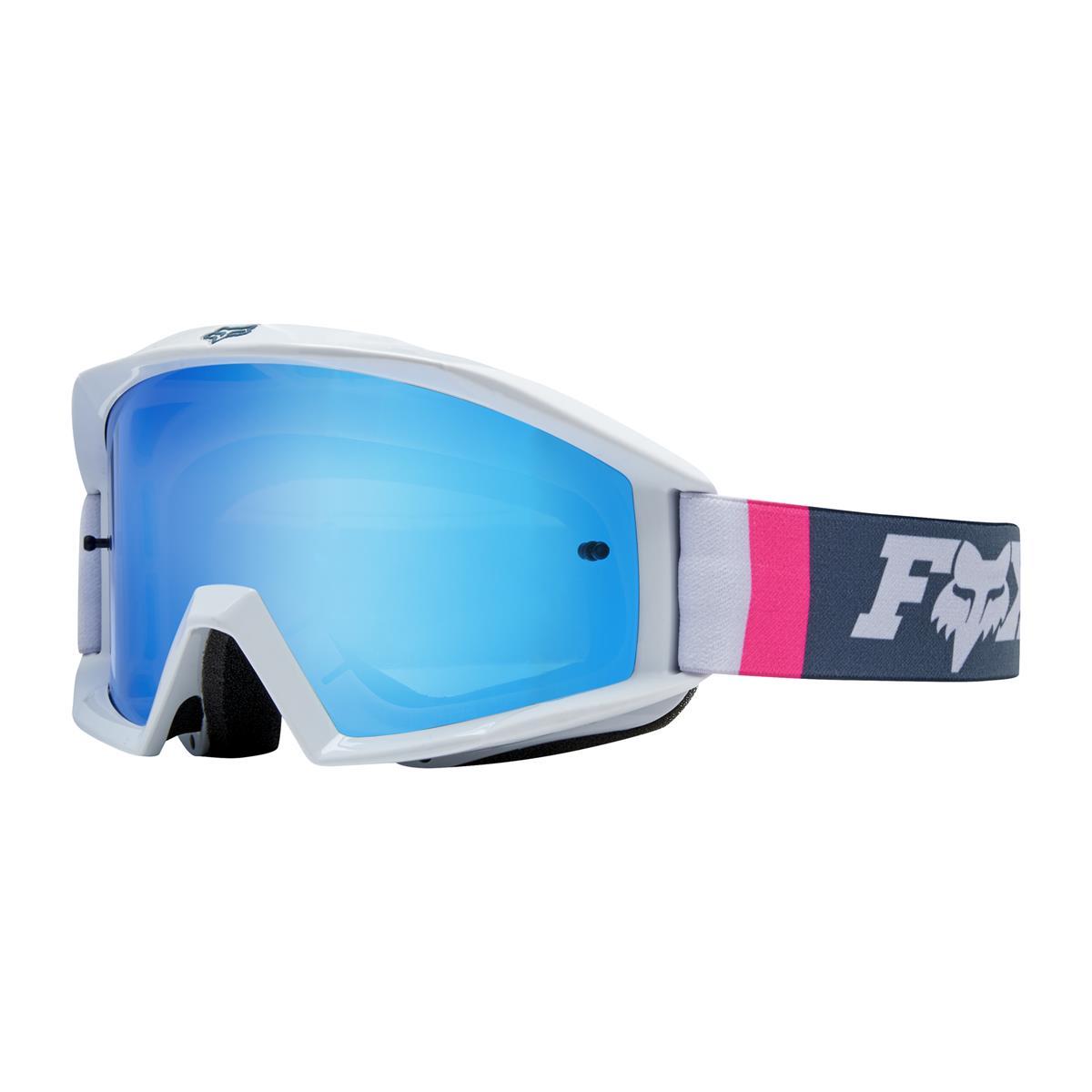 Fox Crossbrille Main Cota Weiß/Navy - Blau verspiegelt