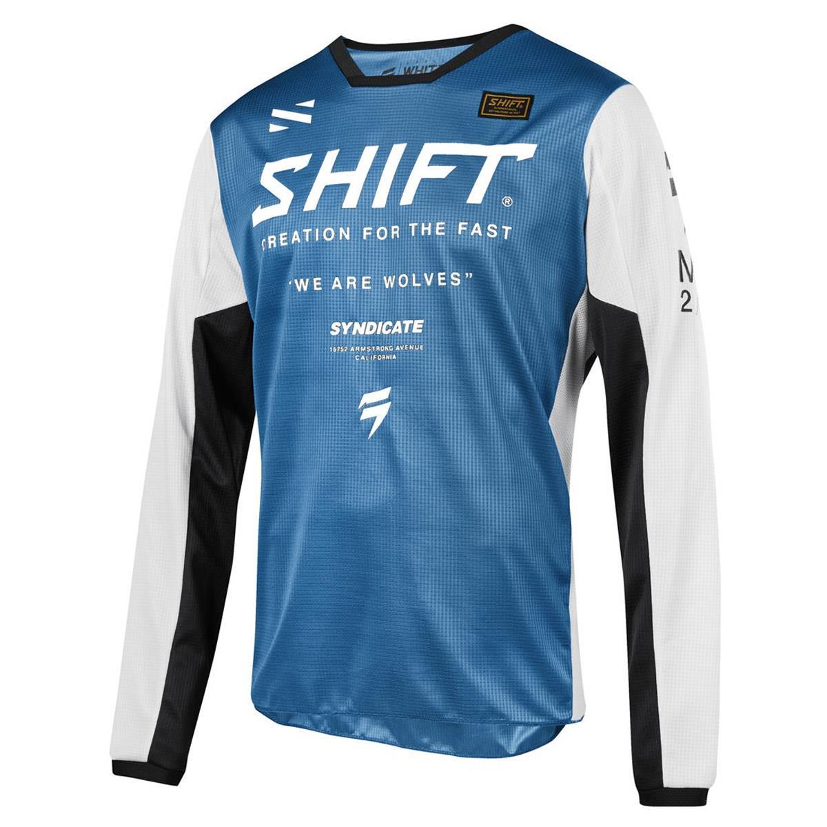 Shift Jersey Whit3 Label Muse Blau