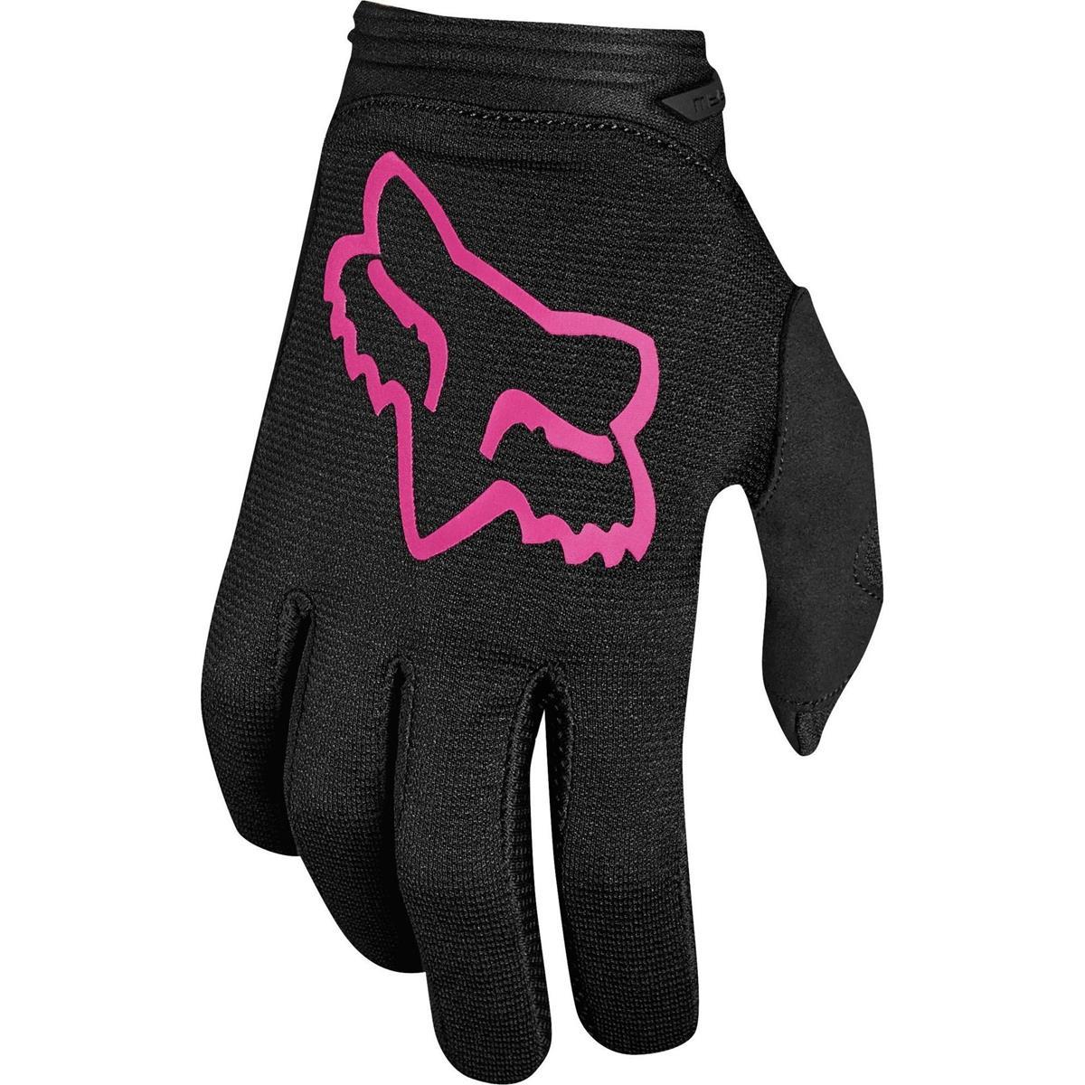 Fox Kids Girls Handschuhe Dirtpaw Mata Schwarz/Pink