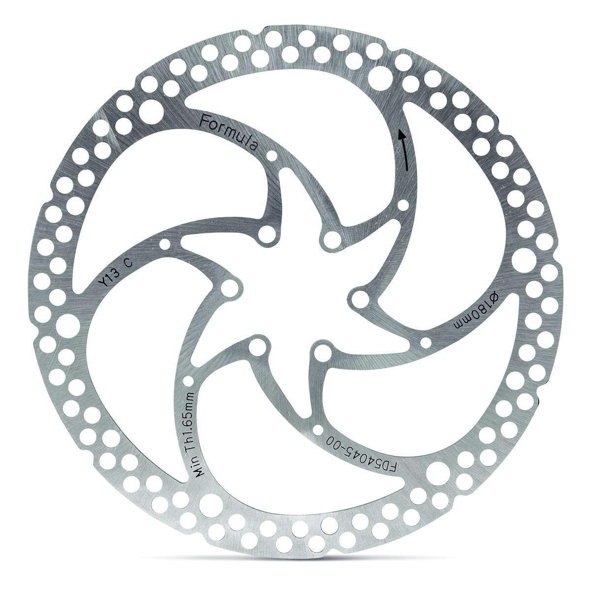 Formula 160 mm, 6 Loch, einteilig Bremsscheibe Silber