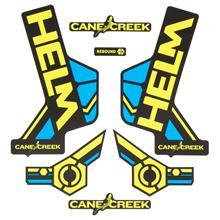 Cane Creek Helm Sticker Kit Chartreuse/Blau