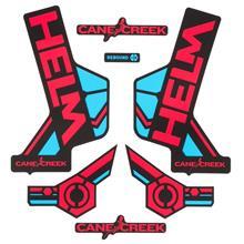 Cane Creek Helm Sticker Kit Rot/Blau