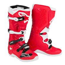 Alpinestars Tech 5 Motocross-Stiefel Rot/Weiß 2019