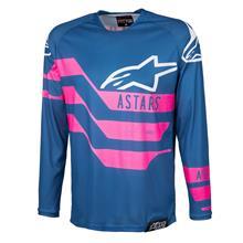 Alpinestars Racer Jersey Flagship - Indigo/Dark Navy/Pink Fluo 2019