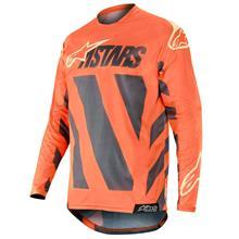 Alpinestars Racer Jersey Braap - Anthrazit/Orange Fluo/Sand 2019