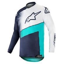 Alpinestars Racer Jersey Supermatic - Dark Navy/Teal/Weiß 2019