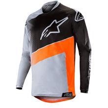 Alpinestars Racer Jersey Supermatic - Hellgrau/Orange Fluo/Schwarz 2019