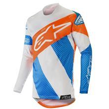 Alpinestars Racer Jersey Tech Atomic - Cool Grey/Mid Blue/Orange Fluo 2019