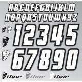 Thor Jersey ID Kit Weiß/Schwarz