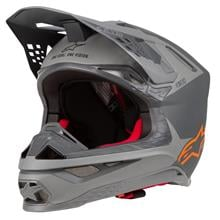 Alpinestars Supertech S-M10 Helm Meta - Anthrazit/Grau/Orange 2019