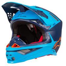 Alpinestars Supertech S-M10 Helm Meta - Schwarz/Aqua/Orange 2019