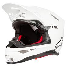 Alpinestars Supertech S-M10 Helm Solid - Glossy Weiß 2019