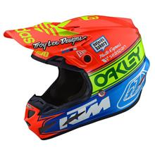 Troy Lee Designs SE4 Composite Helm Team Edition 2 - Orange/Blau 2019