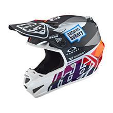 Troy Lee Designs SE4 Composite Helm Jet - Rot/Gelb 2019