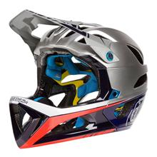 Troy Lee Designs Stage MIPS Enduro-MTB Helm Race Silver/Navy Fall 2018