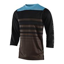 Troy Lee Designs Ruckus Trail-Jersey ¾-Arm Streamline - Heather Brown/Black Fall 2018