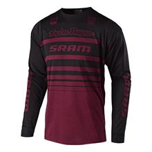 Troy Lee Designs Skyline Trail-Jersey Langarm SRAM - Heather Sangria Fall 2018