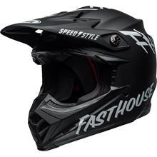 Bell Moto-9 MIPS Helm Fasthouse - Schwarz/Weiß 2019