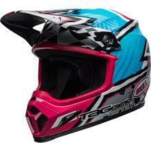 Bell MX-9 MIPS Helm Tagger Asymetric - Blau/Pink 2019