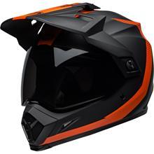 Bell MX-9 Adventure MIPS Helm Switchblade - Matt Schwarz/Orange 2019