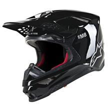 Alpinestars Supertech M8 Helm Solid - Schwarz Gloss 2019
