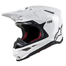 Alpinestars Supertech M8 Helm Solid - Weiß Gloss 2019