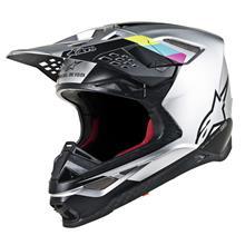 Alpinestars Supertech M8 Helm Contact - Silber/Schwarz 2019