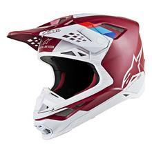 Alpinestars Supertech M8 Helm Contact - Dunkelrot/Weiß 2019