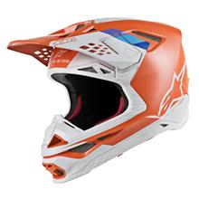Alpinestars Supertech M8 Helm Contact - Orange/Grau 2019