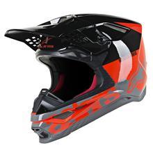 Alpinestars Supertech M8 Helm Radium - Rot Fluo/Schwarz/Grau Gloss 2019