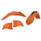 Acerbis Plastik-Kit KTM EXC 125/200/250/300, EXC-F 450/525/530 08-11, Orange