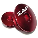 ZAP Inspektionsöffnungs-Schrauben Kawasaki KXF 450 09-, KXF 250 11-, Aluminium, Rot