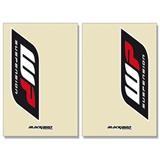 Blackbird Racing White Power Gabelschutzaufkleber Transparent