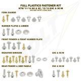 Bolt Works Schraubenkit für Plastikteile, KTM EXC 12-, SX 11-