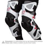 Alpinestars Fluid Pro Knieorthese Weiß/Schwarz/Rot - Paar 2019