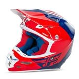 Fly Racing F2 Carbon Pure Helm Rot/Blau/Weiß 2016