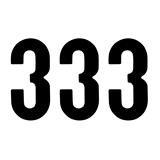 ZAP Racing Startnummer-Set Nummer 3, schwarz, 14 cm, 3 Stück