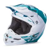 Fly Racing F2 Carbon Helm Pure - Teal/Weiß 2018